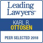 Award for Karl Ottosen by Leading Lawyers 2018