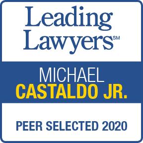 Award for Michael Castaldo, Jr by Leading Lawyers 2020